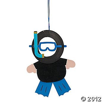 Scuba Diver Craft- these are SO cute!  Stick their face behind the mask!!  Would be adorable for a bulletin board!