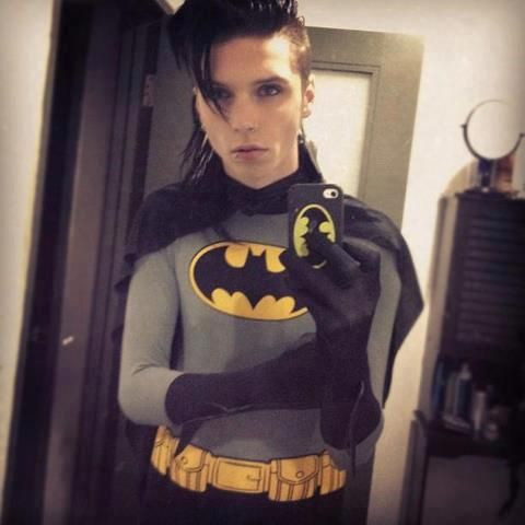 Andy from Black Veil Brides (costume for Halloween 2012) He will forever and always be my Batman