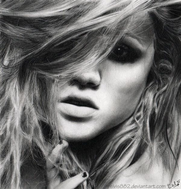 Realistic Drawings  No, these are not black and white pictures. They are drawn portraits made by Callie Fink and they look incredibly realistic. Although we find some of the faces a bit scary looking, it's fascinating to see how someone can draw so realisticly.