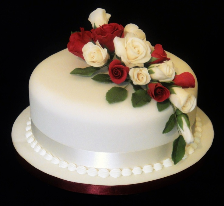Ruby Wedding Cake 07917815712 Fancycakesbylindacouk Facebook
