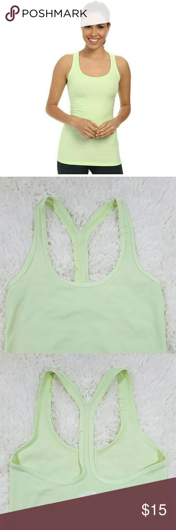 The North Face Razorback Active Tank Top size s The North Face tank top in a pretty light green color.  It is made a stretch fabric.  It is in good condition with no tears or holes.   516N26 The North Face Tops Tank Tops
