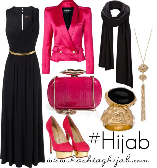 """Hashtag Hijab Outfit #37 thats my kind of pink.  no """"baby"""" about that.... unless its """"woah! baby!"""""""
