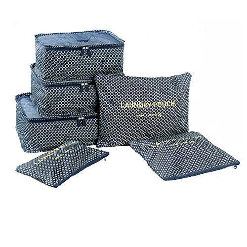 ITraveller 6 Stück Set-3 Verpackungs Würfel 3 Beutel Kompresse Ihre Kleidung während der Reise (Dark blue star) on Hipster Shop - Entdecken, teilen und sammeln erstaunliche Produkte mit Hipster-Shop.com