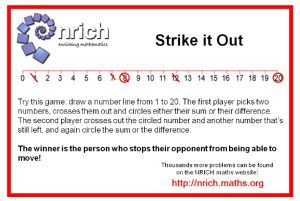 This is a primary math game for practicing adding and subtracting numbers to 20. Download game boards at focusonmath.wordpress.com