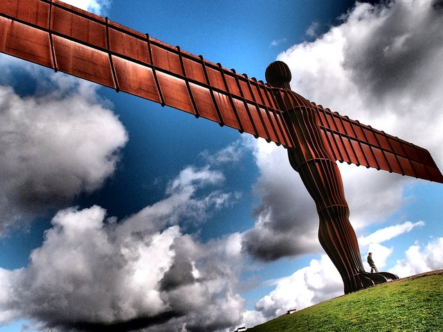 The Angel Of The North, Gateshead. UK  Created by Antony Gormley this is Britains largest Sculpture and the largest 'Angel' sculpture in the World.