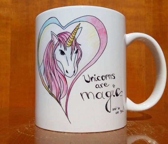 TAZA de unicornio, unicornios son magia tan te, taza de unicornio, unicornio taza de café, taza de café Unicornio, unicornio taza del té, taza de té de unicornio, UnicornioSay Hola a su nuevo taza favorita!  Por favor revise la sección de animales mágicos de mi tienda donde tengo más singulares diseños dibujados mano https://www.etsy.com/shop/HeavenForLadies?ref=l2-shopheader-name&section_id=21410194  ¿Hay una mejor manera de empezar el día que una deliciosa ...