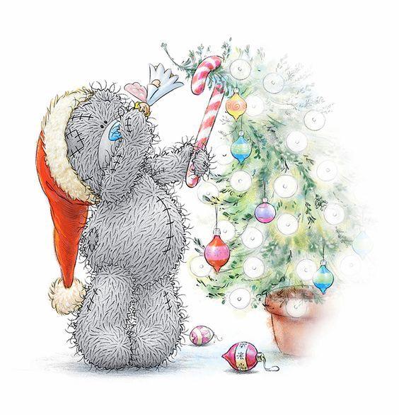 Мороз, открытка с новым годом с мишками