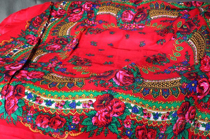 MATERIAŁ folk ludowy chusta góralska tkanina (4434444536) - Allegro.pl - Więcej niż aukcje.
