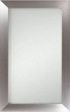 The home depot innermost cabinets bellagio brushed stainless steel and frosted glass kitchen - Glass kitchen cabinet doors home depot ...
