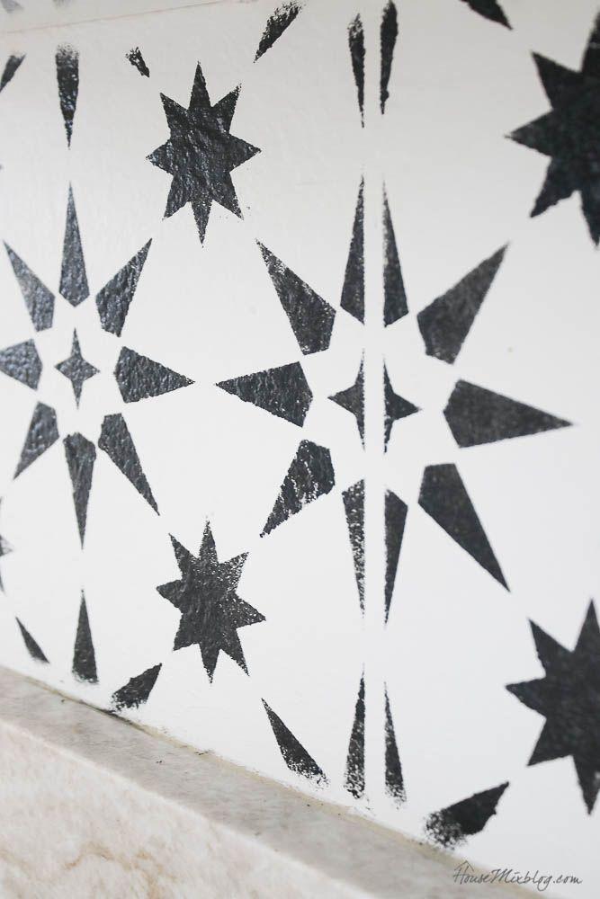 19 Stenciled Kitchen Wall Stencils Wall Wall Stencil Patterns Kitchen Wall