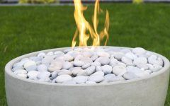 Firepit Rocks Modern Fire Pit Toppings   Lava Rock, River Stones, And Glass