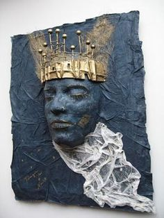 Queen of the night by Martina Reis – Paper Mache Mask