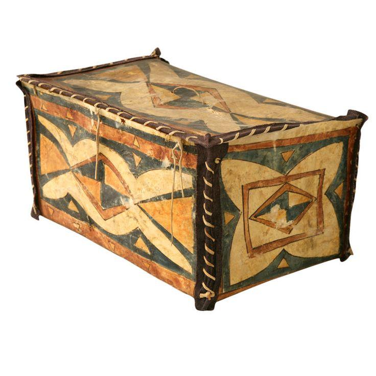 Original Vintage Native American Parfleche Box