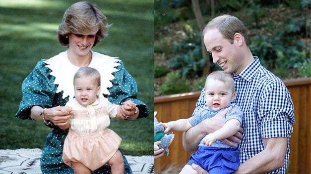 El Príncipe Jorge, cada día más parecido a su padre, el Príncipe Guillermo