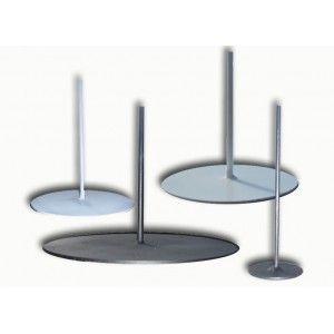 Socle rond en métal 25 cm - Pied de lampe - Nouveau produit. Idéal pour servir de support à vos plus jolies créations