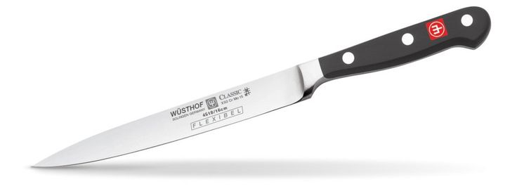 "Wusthof Classic 6"" Flexible Fillet knife.  A strong, beautiful, and balanced knife. The favourite of both professional and home chefs. PEtec Edge. Available at House of Knives."