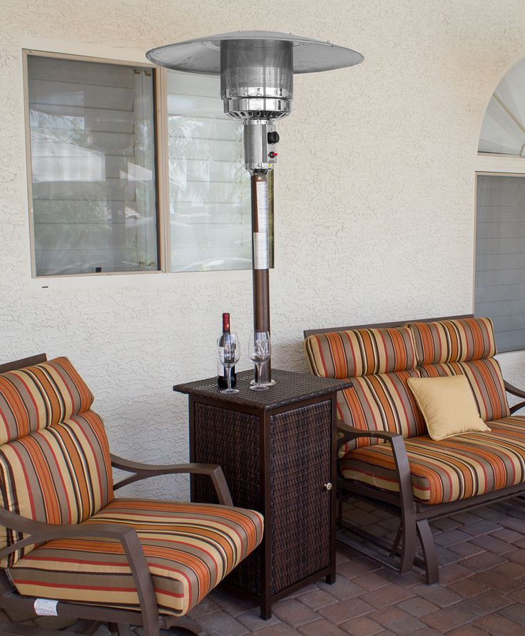 AZ Patio Heater Tall Square Wicker With Wheels