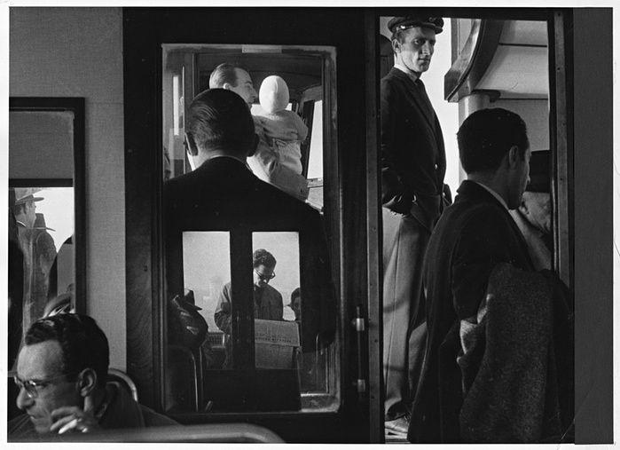 Gianni B Gardin. 1960 Venice vaporetto http://www.theguardian.com/artanddesign/2014/apr/03/gianni-berengo-gardin-best-shot-venice-cartier-bresson#img-1