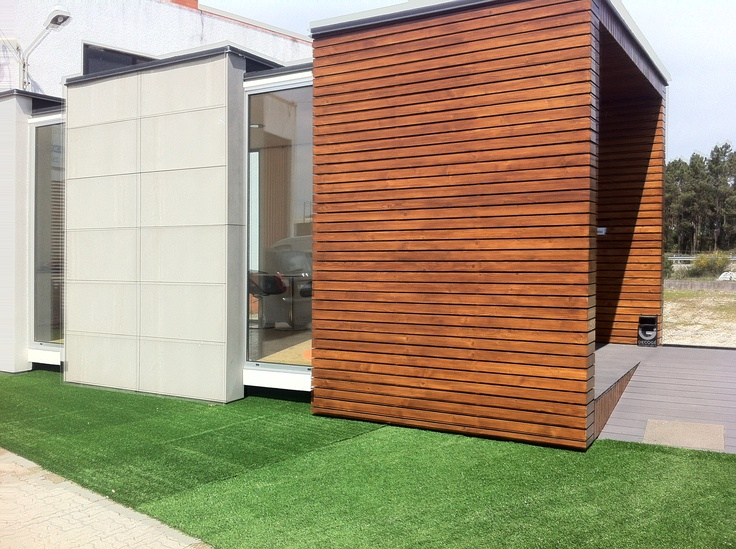Moodular structure ideas for cladding the breeze block