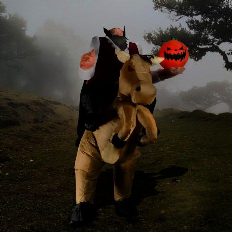 Inflatable Headless Horseman Costume