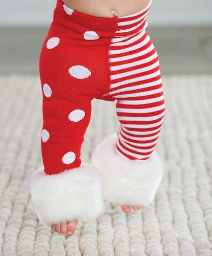 Fur Cuff Legging für kitschige Weihnachten