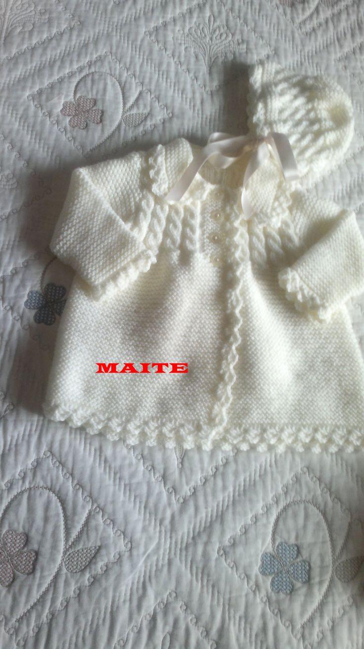 abrigo y gorro para bebé