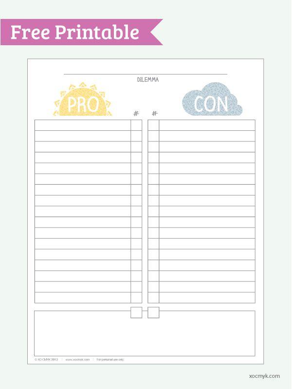 Pros Cons Printable Google Search Printable Paper Free