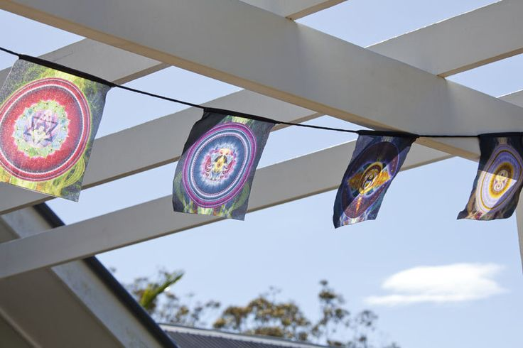NEW!!! Chakras flag, Prayer flag, Mandalas flag - Unique design, made to order- Deco for your Healing, Sacred, Yoga, Meditation space by Pumayana on Etsy https://www.etsy.com/au/listing/245900503/new-chakras-flag-prayer-flag-mandalas