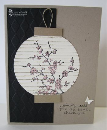 Cute Japanese lantern created with cherry blossoms and crimping...