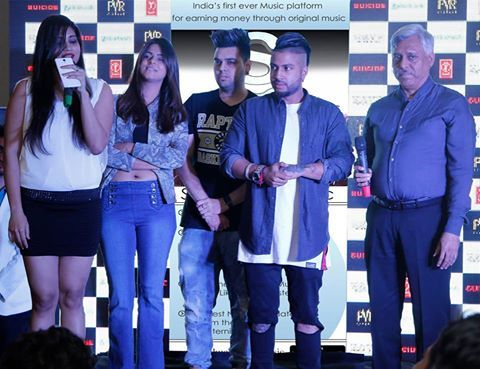 #Sukh-E Launches #Sabakuch #Music Portal with his team at Hotel Shagrilla New…