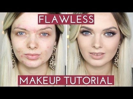 Acne coverage - flawless makeup tutorial - #makeuptutorial #acne #acnecoverage #acnetips