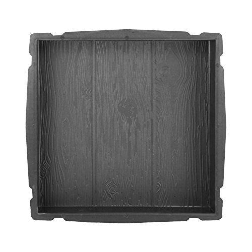 @tec Betonform Schalungsform Gießform Polypropylen (Kunststoff) - Gehwegplatte/Terrassenplatte Trittstein Holzoptik - 40 x 40 x 4 cm