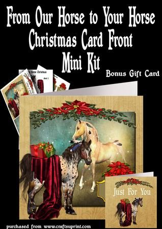 From Our Horse to Your Horse Christmas Card Gift Card  on Craftsuprint - Add To Basket!
