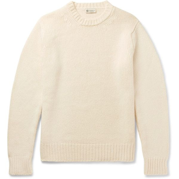 Connolly Cashmere Sweater ($1,150) ❤ liked on Polyvore featuring men's fashion, men's clothing, men's sweaters, mens chunky sweater, mens cashmere sweaters, mens crew neck sweaters, mens crewneck sweaters and mens ribbed sweater