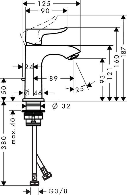 Metris Смесители для раковины: с одним рычагом, хром, Арт. № 31088000