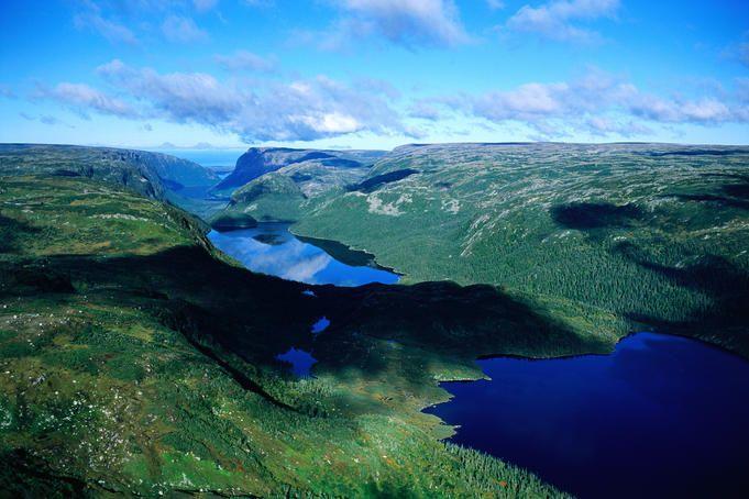 The spectacular scenery of Gros Morne National Park, Newfoundland. Canada