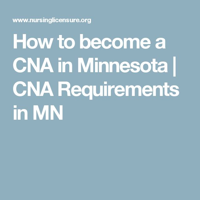 How to become a CNA in Minnesota | CNA Requirements in MN