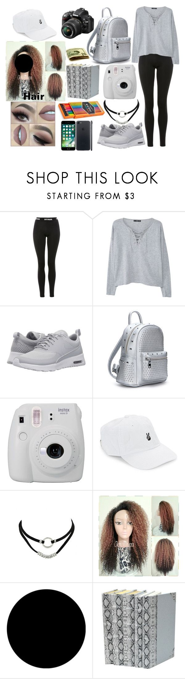 """Eva's day"" by autumnkaton ❤ liked on Polyvore featuring Topshop, MANGO, NIKE, Fujifilm, Nikon, Body Rags, Wall Pops! and FOSSIL"