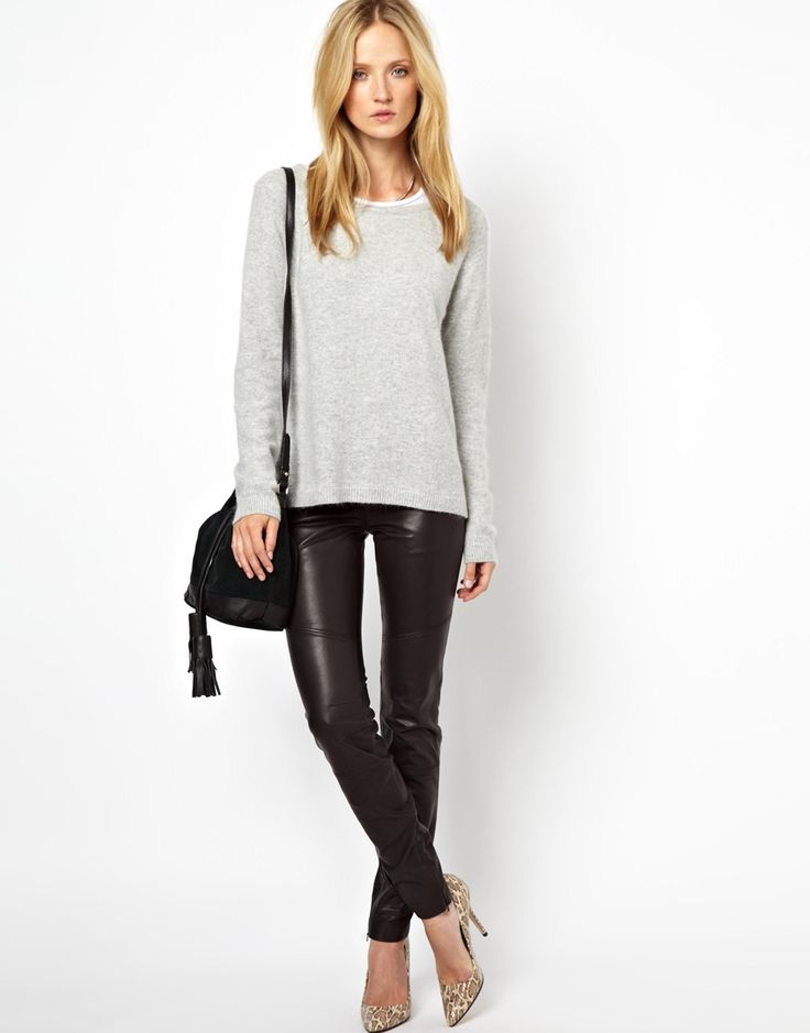 Leather Panel Pants