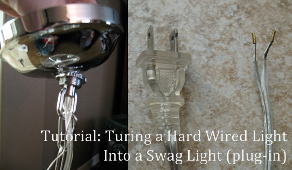 Lighting How To Turn A Hard Wired Light Into A Swag