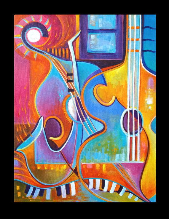 This is an Original Acrylic Painting by Marlina Vera. It is signed in front and back. Includes a hand-signed Certificate Of Authenticity By Marlina Vera.  TITLE : The Soul of Music  SIZE: 18 x 24 x 3/4  PRICE: $475 on Sale  MEDIUM: Acrylic on canvas. Black border it is not part of the painting. Sides are staple free and painted black. Frame not included. Picture may not be to scale.  SHIPPING: $25.00 via FeDex ground including Insurance. International Shipping cost is $75.00  PAYMENT MET...