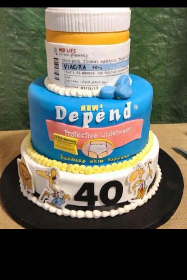 40th birthday cake All kinds of stuff Pinterest