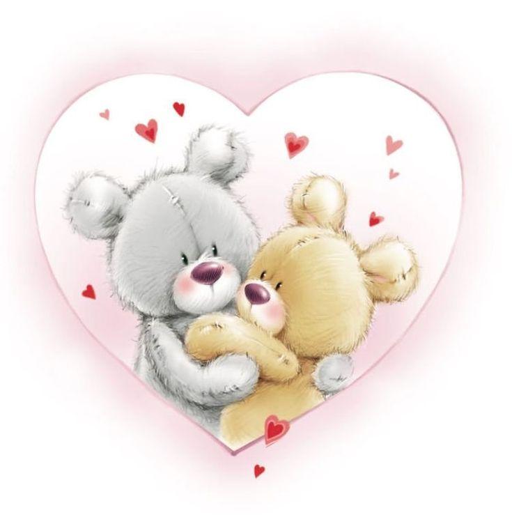 Милые картинки мишки любовь