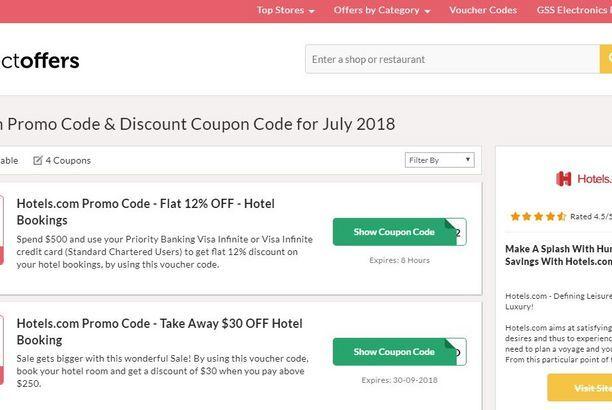 hotels.com coupon code
