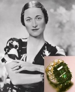 Wallis Simpson engagement ring.