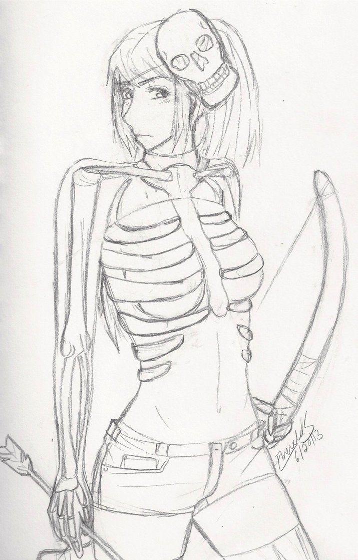 Image Result For Minecraft Skeleton Anime   MINECRAFT   Pinterest   Art Skeletons And Anime