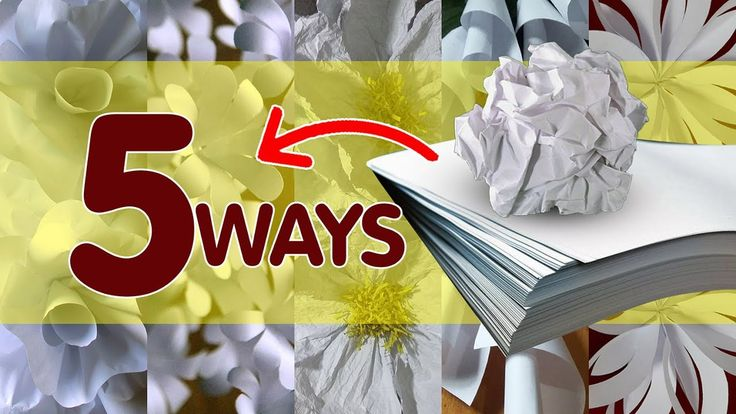 5 Ways to Make Bond Paper Flowers - YouTube