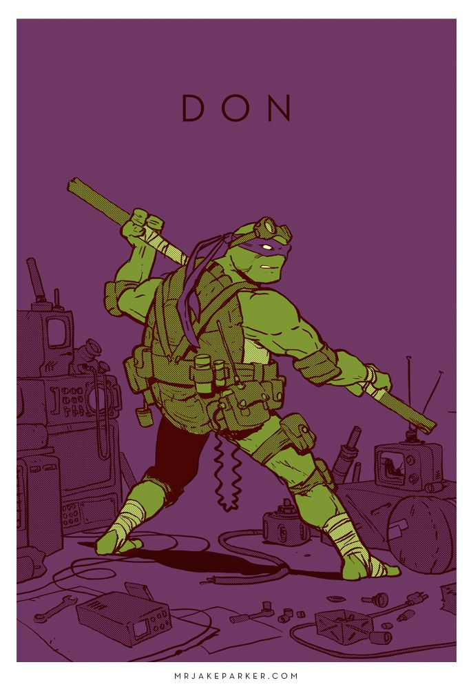 A incrível Fan Art de Jake Parker Donatello Teenage Mutant Ninja Turtles