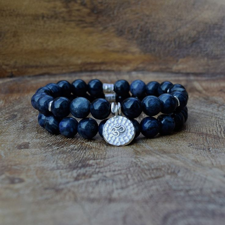 The OM Bracelet Set - Dumortierite