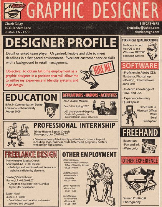 I really like this graphic design resume.  Wonder if I could pull this off. If I ever need to.